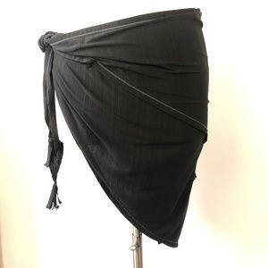 "NEW ATHLETA Swim Wrap Cover-up Sarong Gray OS 69""W"